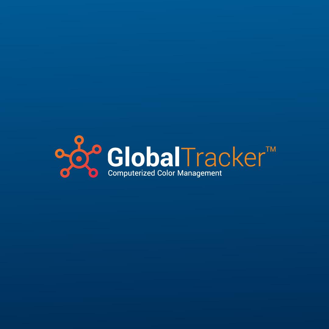 Riverdale Global Tracker brand logo design.