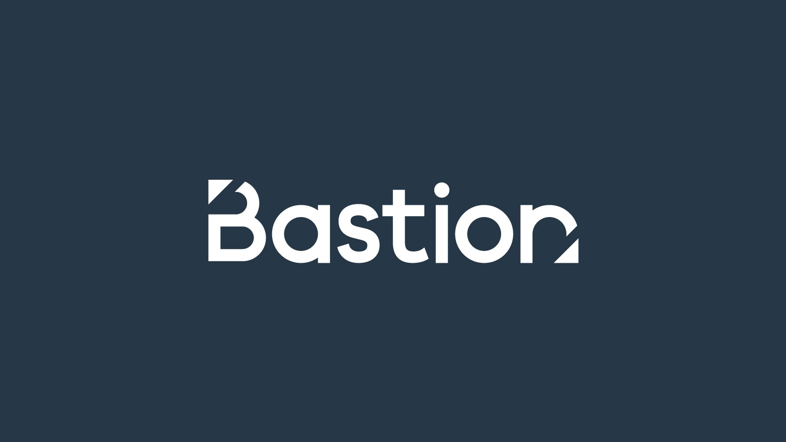 Bastion Architects brand logo design.