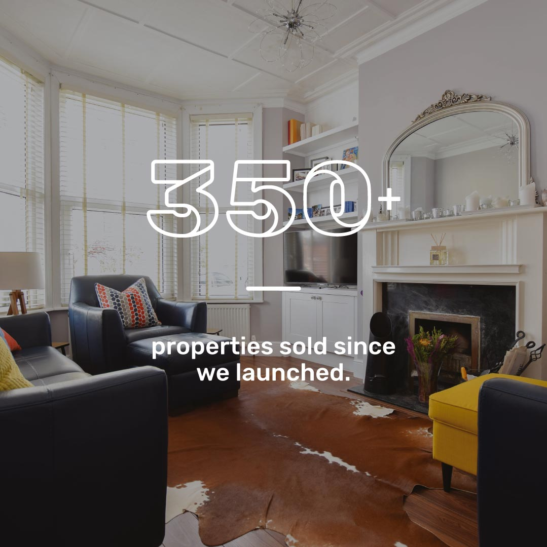 Made Hastings information graphic showing more than 350+ properties sold since launch.