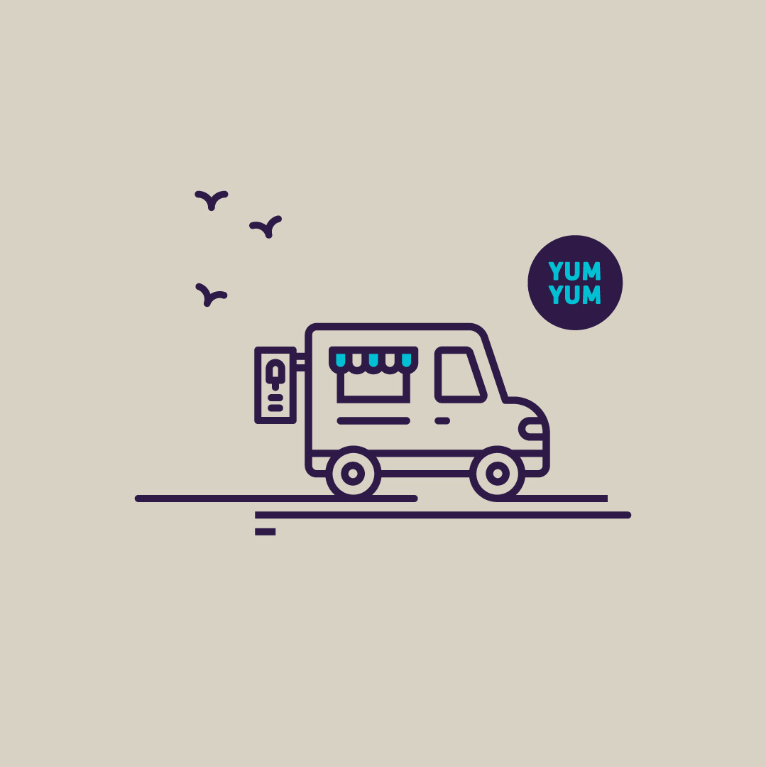 Locate East Sussex digital branding website illustration graphic of an ice-cream van.