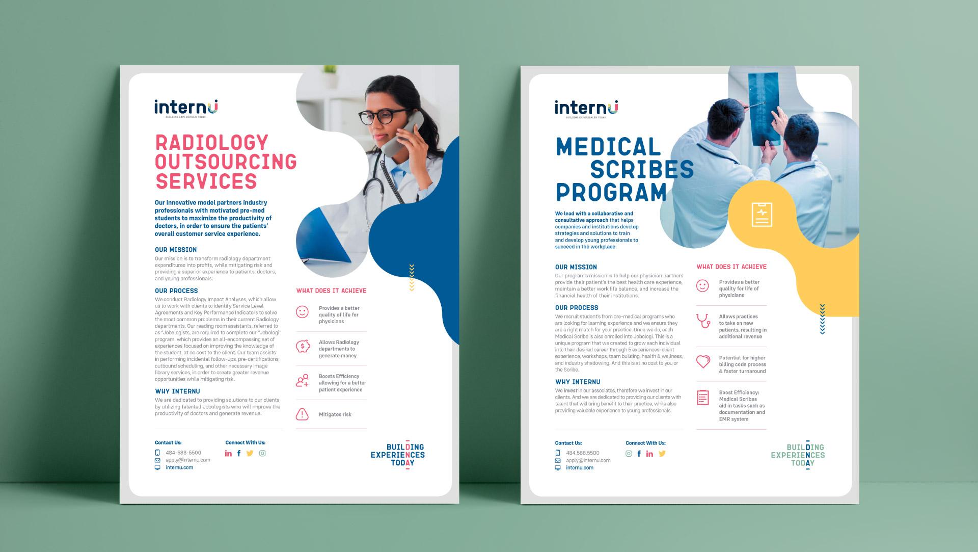 internU recruitment branding applied to their medical scribes.