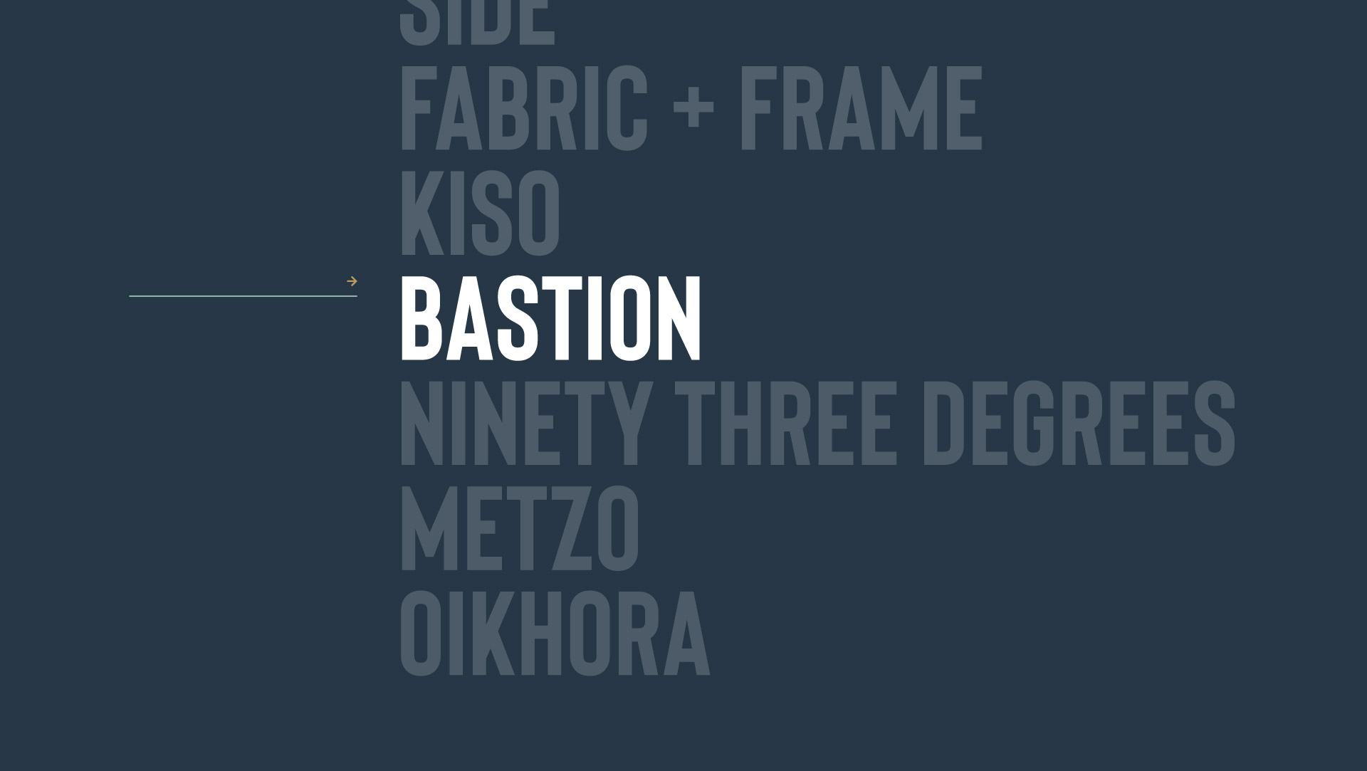 Architects branding - showcasing the brand name, Bastion Architects.