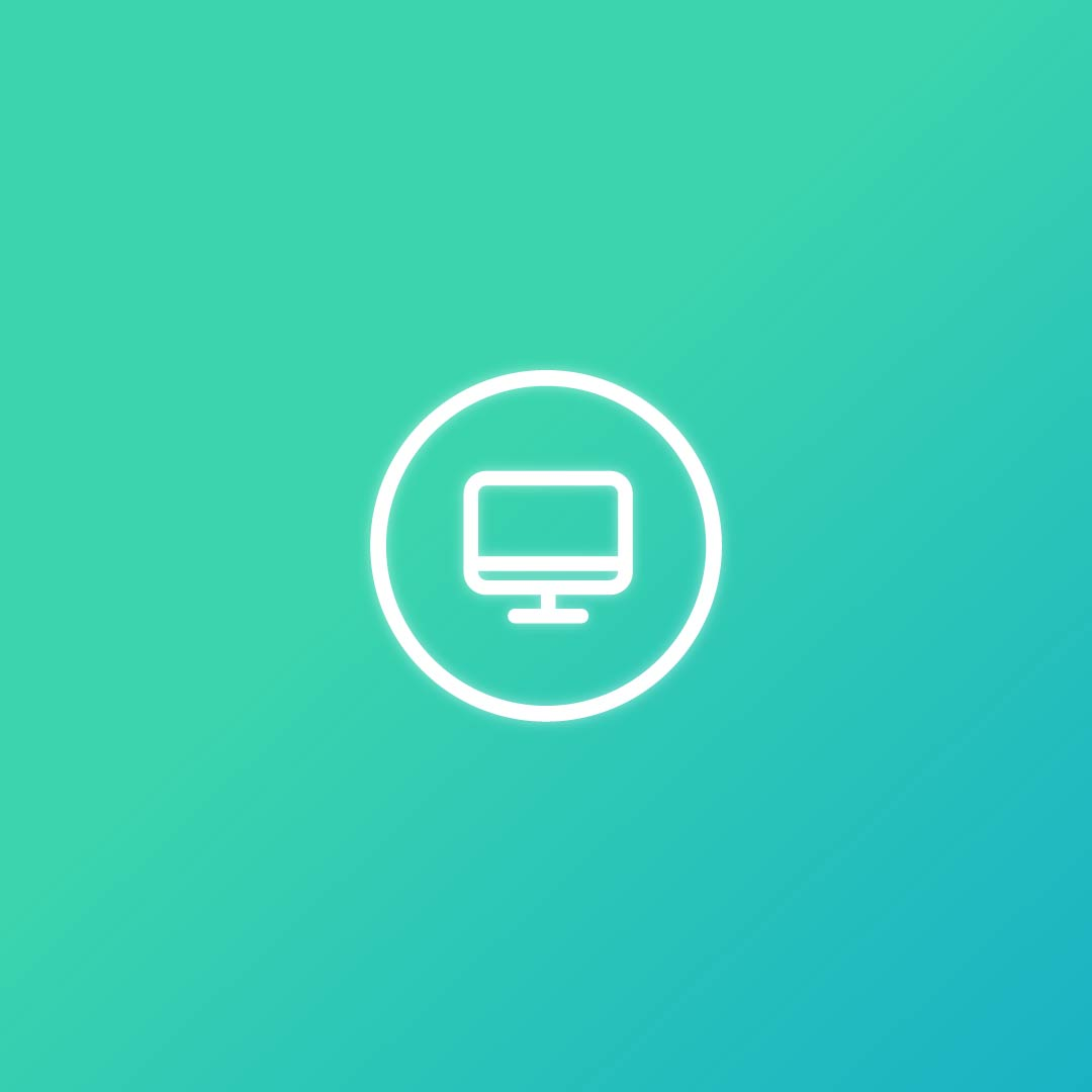 digital icon design of computuer.