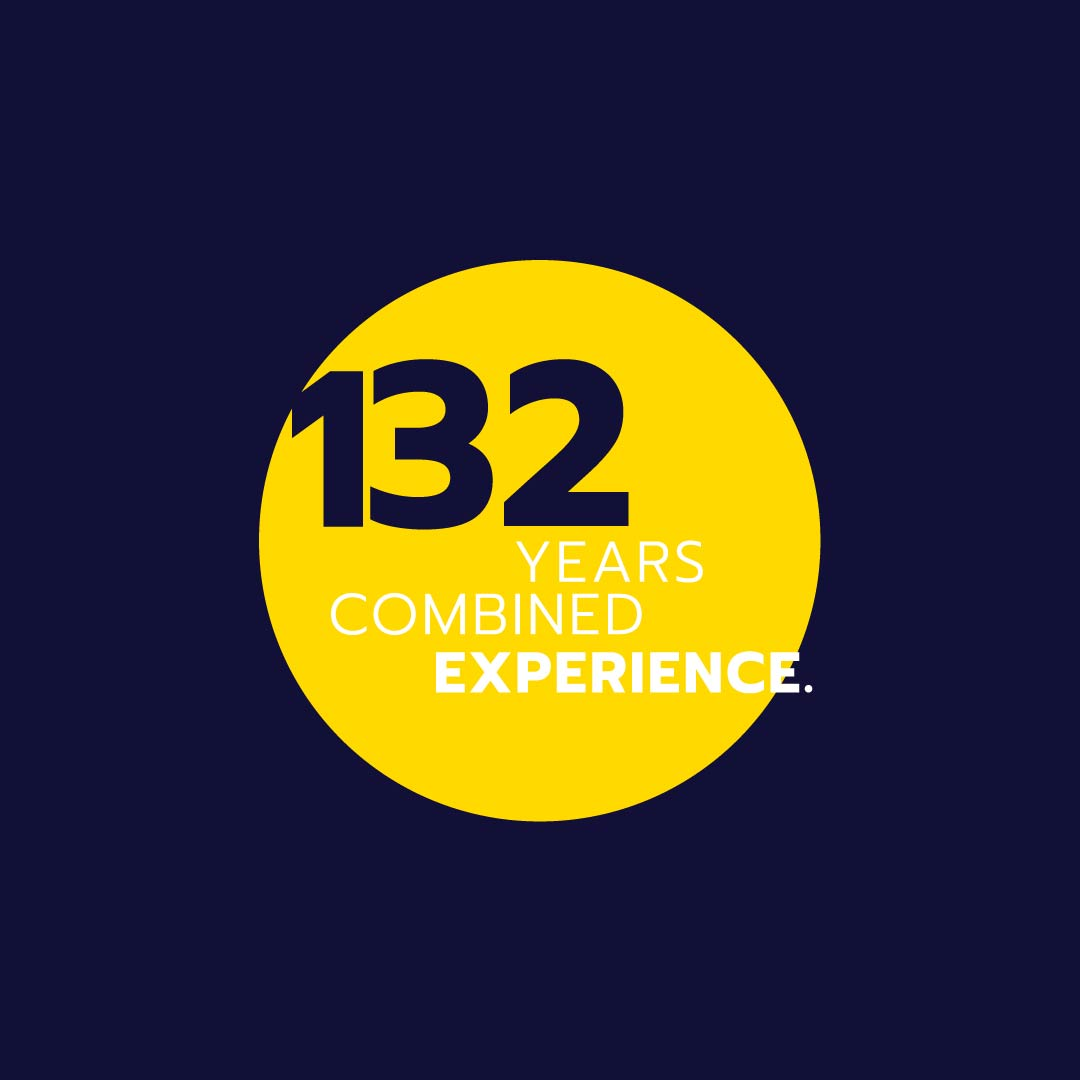 information graphic - 132 years experience.
