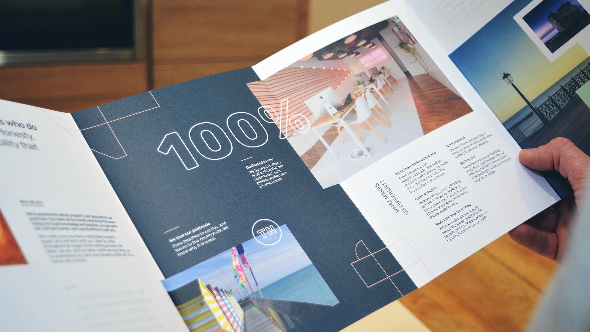 Made Hastings brochure design spread.