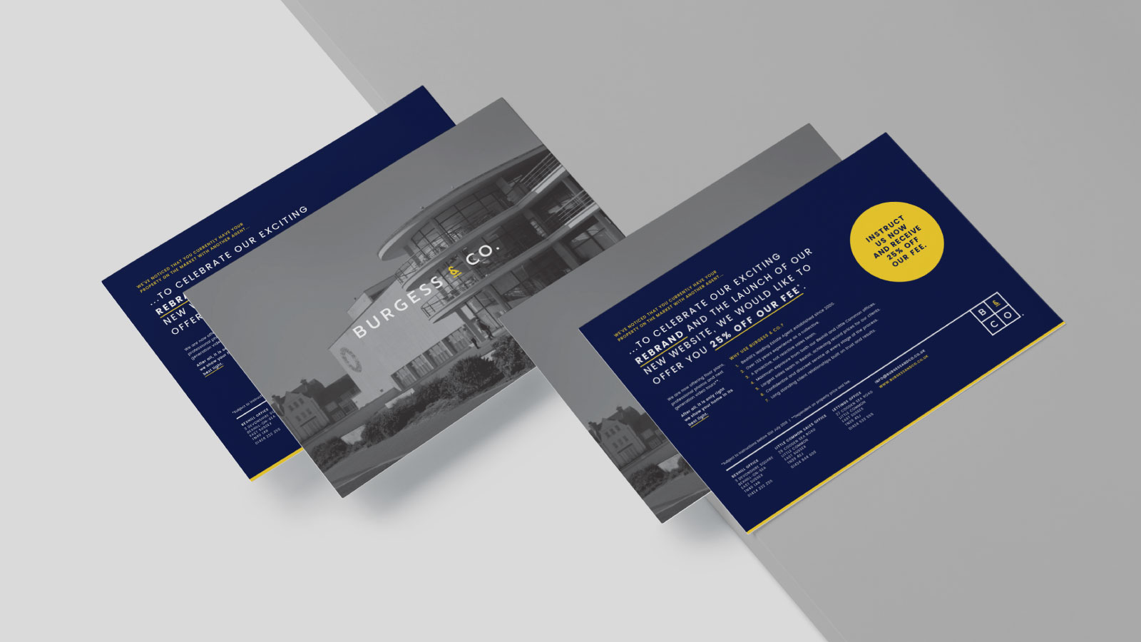 New brand identity applied to a leaflet.
