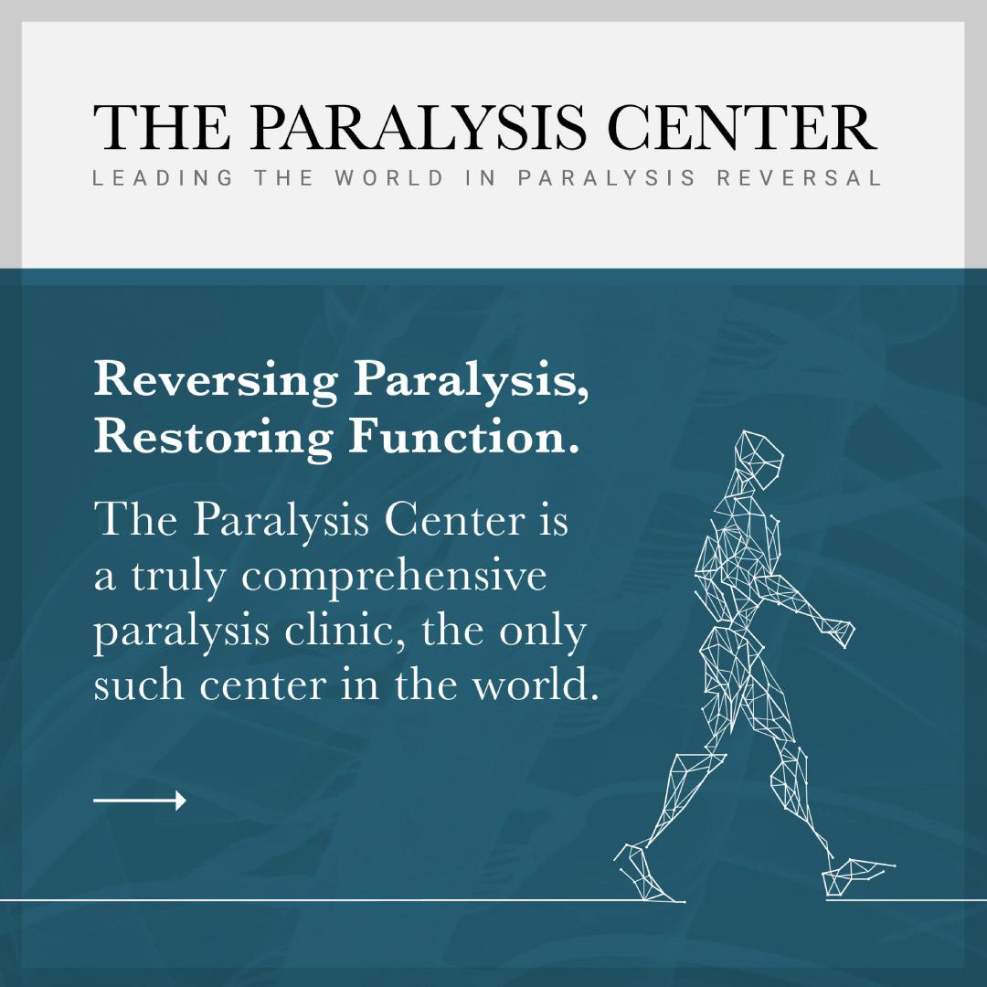 Paralysis Center brand social media image design.