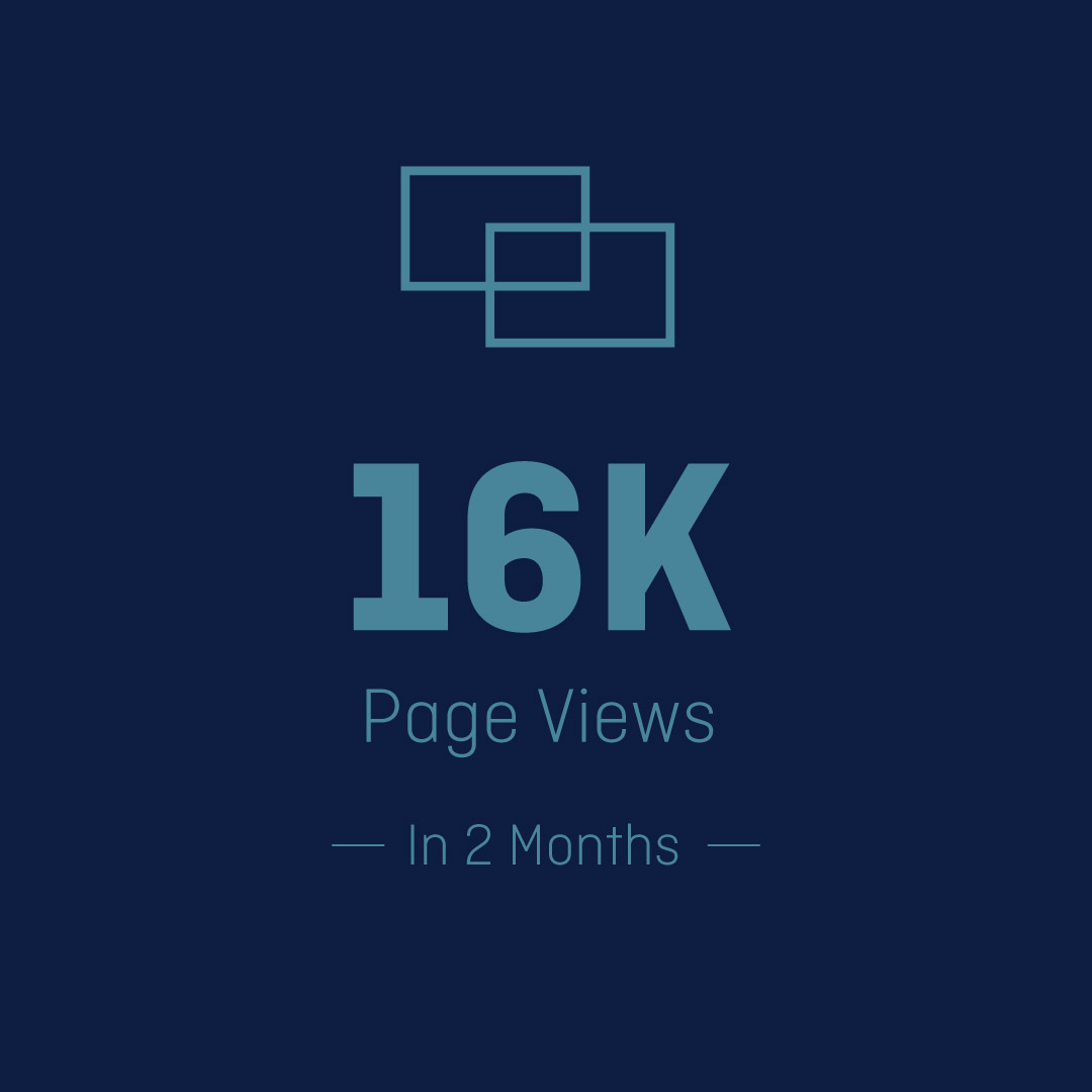 Digital marketing image showing an increase in page views.