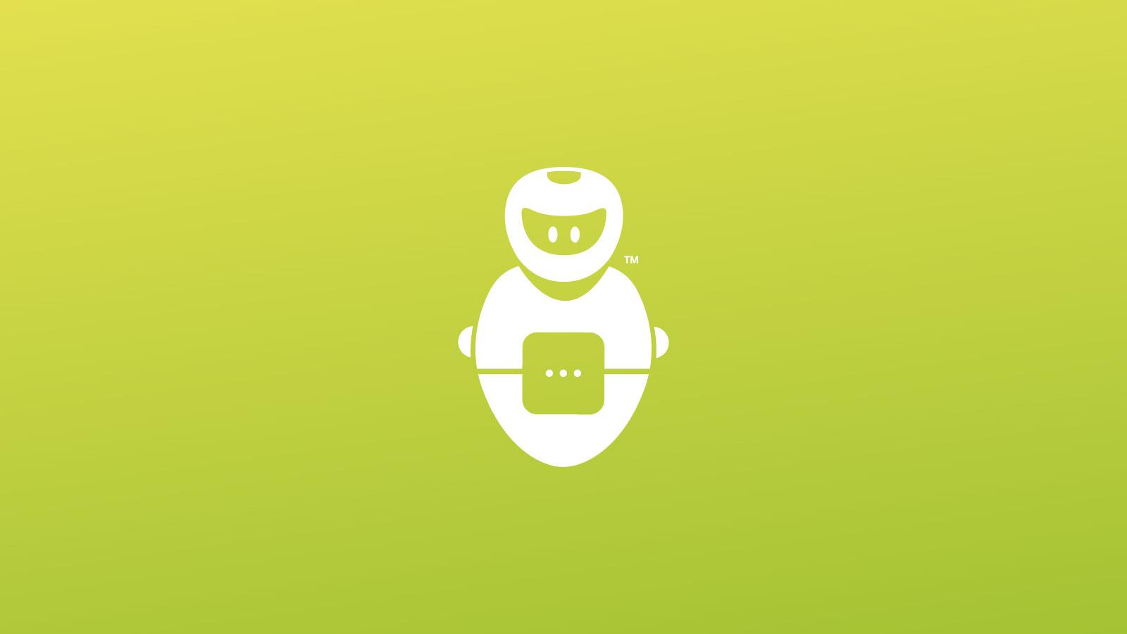 GblobalBot branding and logo design on green colour background.