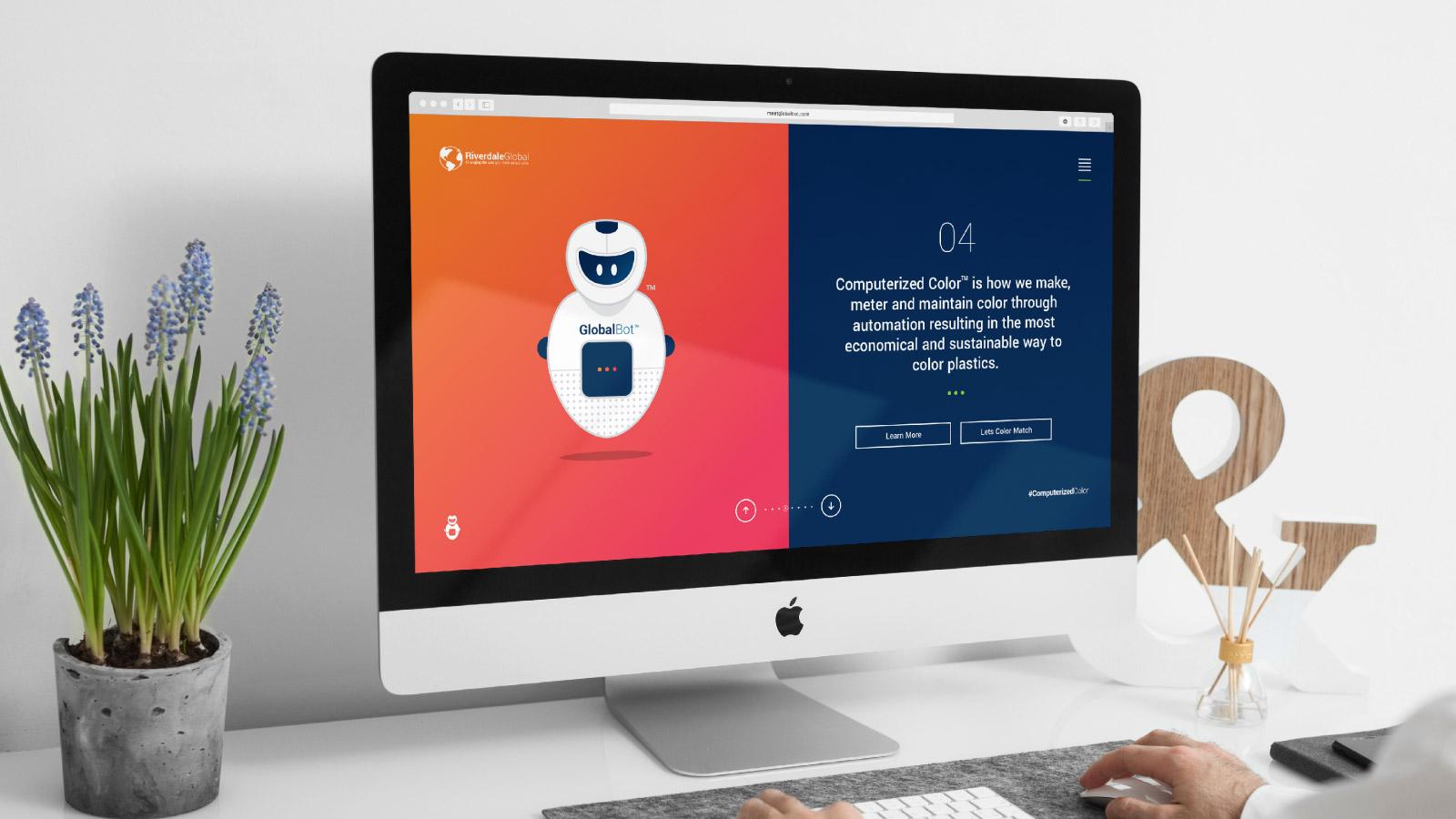 Riverdale Global GlobalBot bespoke website design.