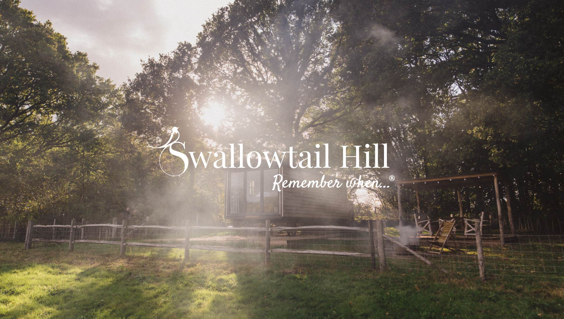 Swallowtail Hill accommodation and logo design.