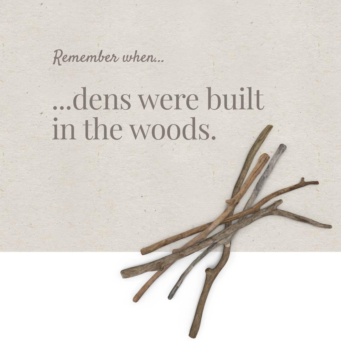 Branding graphic design image of wood cuttings.