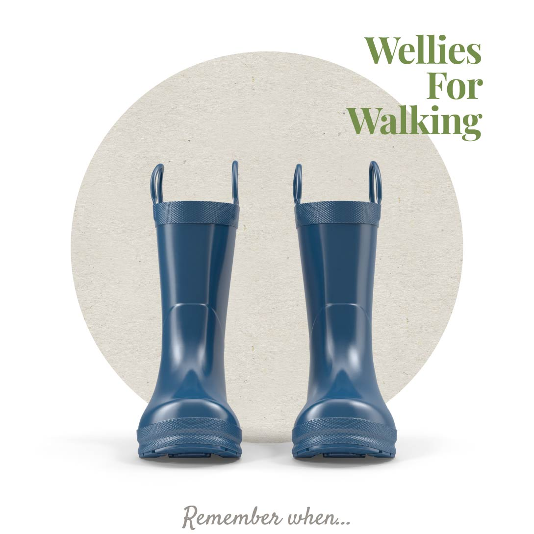 Wellies for walking graphic design.